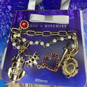 New Disney Snow White Gold Charm Bracelet